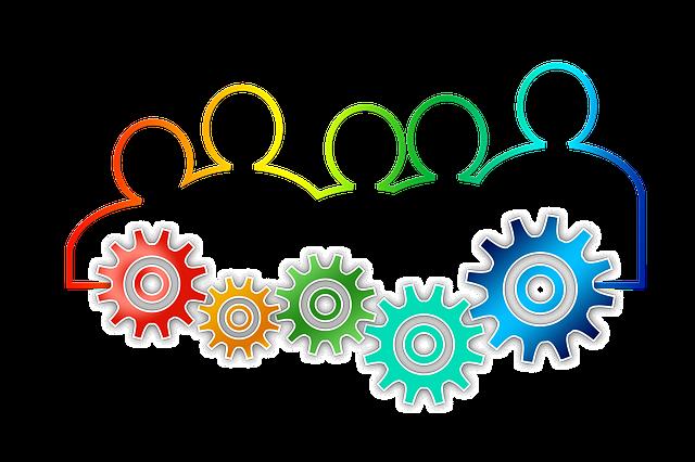 Teamwork image by Gerd Altmann - Pixabay